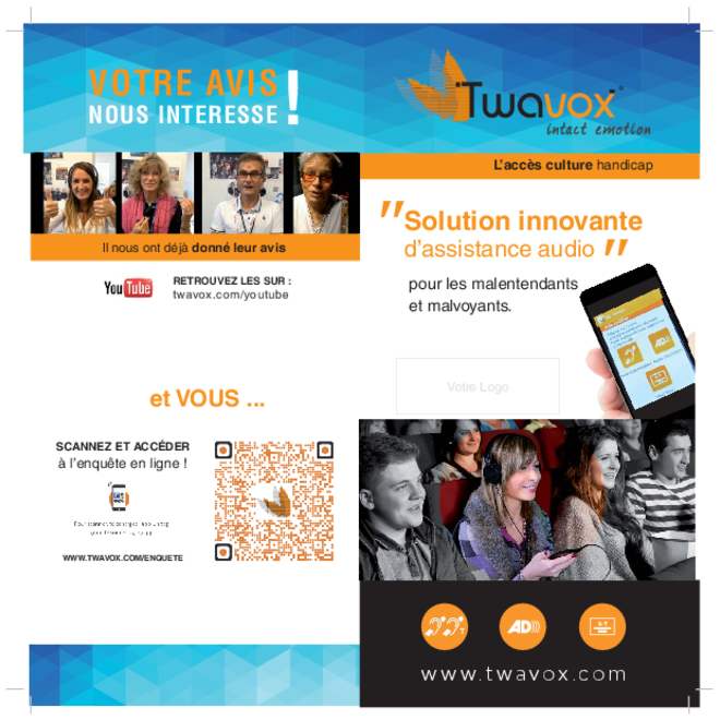 SOLUTION INNOVANTE D'ASSISTANCE AUDIO pour les malentendants et malvoyants